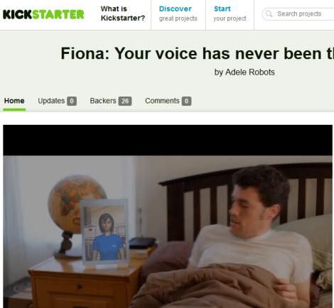 Adele Robots Fiona Kickstarter