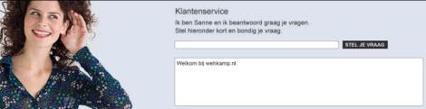 Wehkamp chatbot Sanne