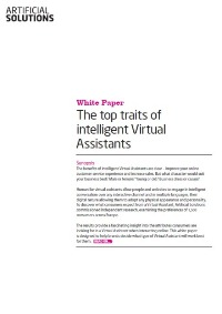 Virtual Assistants' Top traits