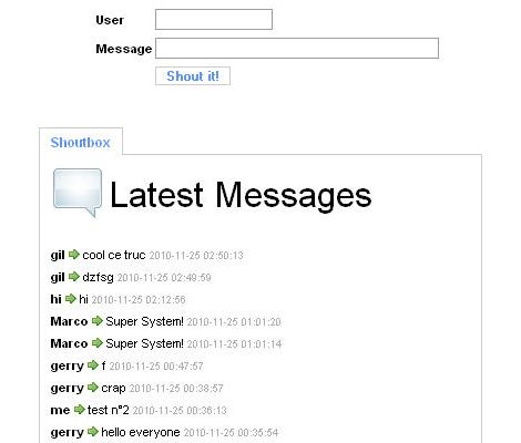 Chatterbox is also known as shoutbox, saybox, tagboard or chat room