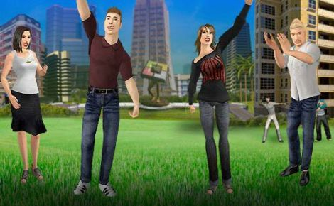 Virtual People from virtual world Kaneva
